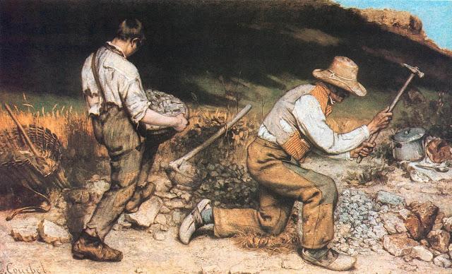 Imagen de la pintura Los picapedreros de Courbet