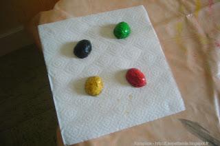 Activité créative avec coquille de noix