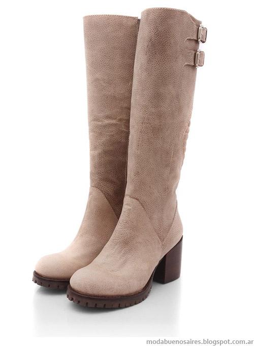 Moda botas bucanera invierno 2015 Blaque.