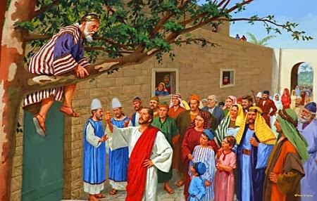 Resultado de imagen de imagenes de jesus en casa de zaqueo