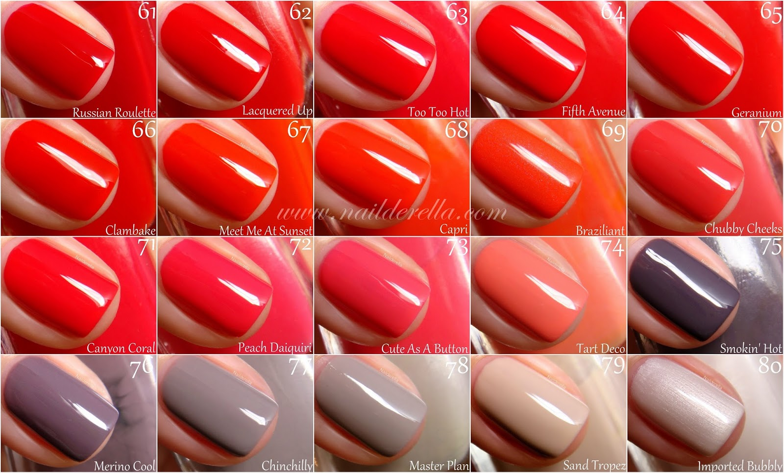 Essie Color guide #1-100! - Nailderella
