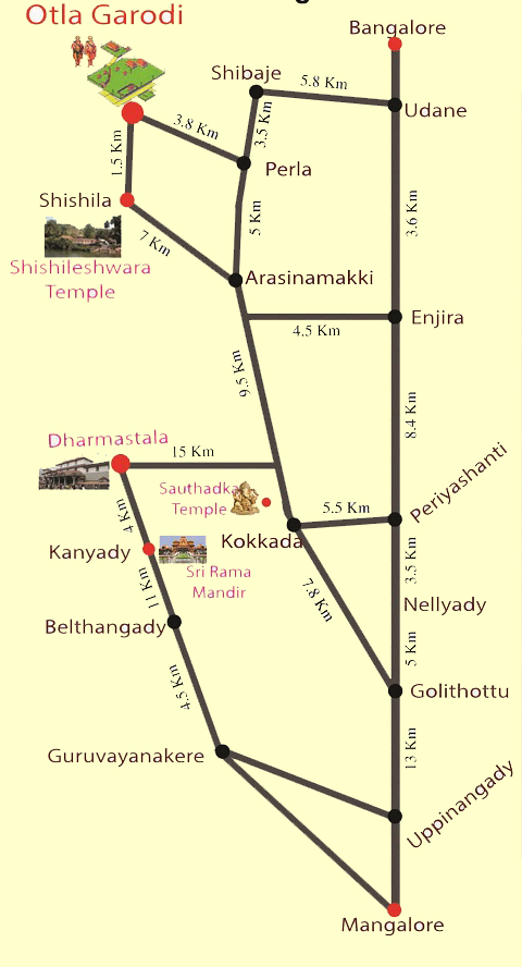 Route Map- Otal Garodi