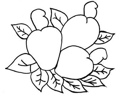 Desenhos de Frutas para Imprimir e Pintar