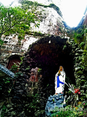 Old Grotto of the Virgin Mary at the side of Nagcarlan Church