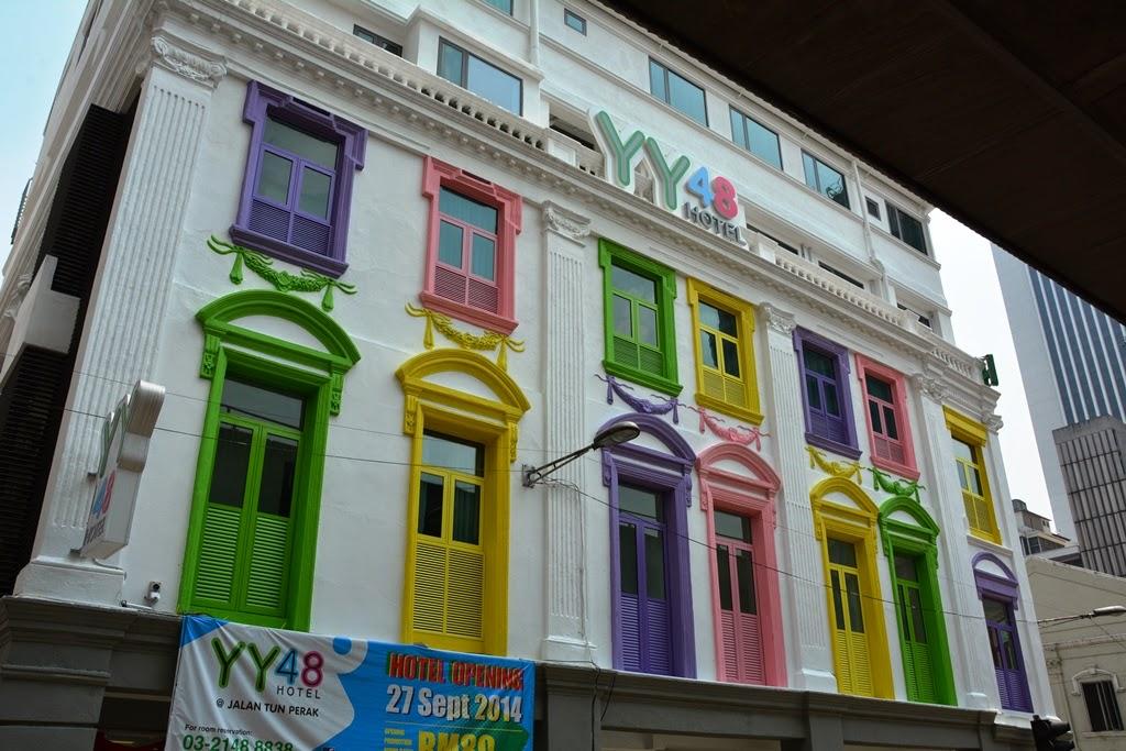 Kuala Lumpur colorful facade