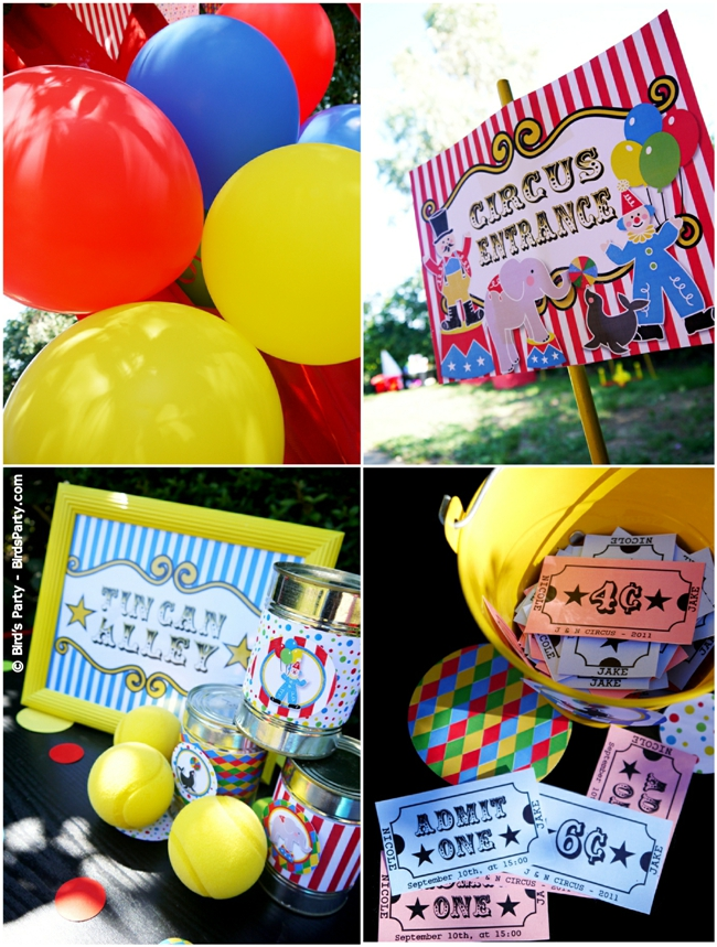 Big Top Circus Carnival Inspired Birthday Party Ideas and Printables Games