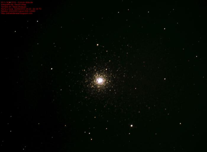 Cúmulo globular M 3 / NGC 5272 - El cielo de Rasal