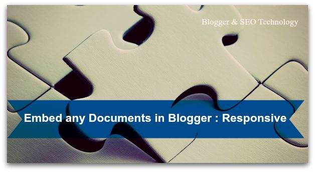 responsive embeding documents in blogger