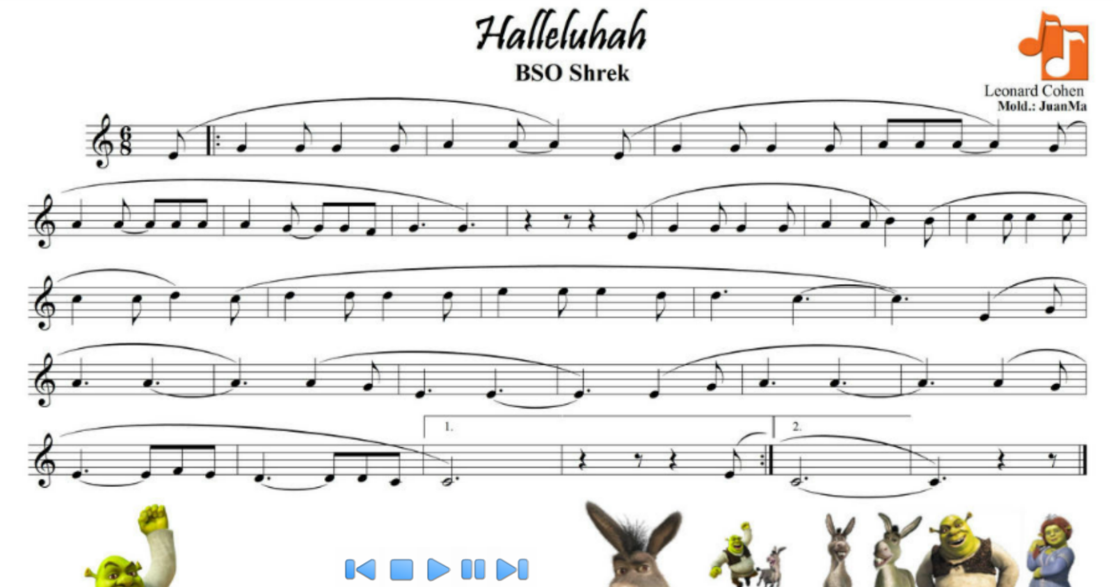 http://ikasmus.wix.com/soundtracks/hallelujah---shrek