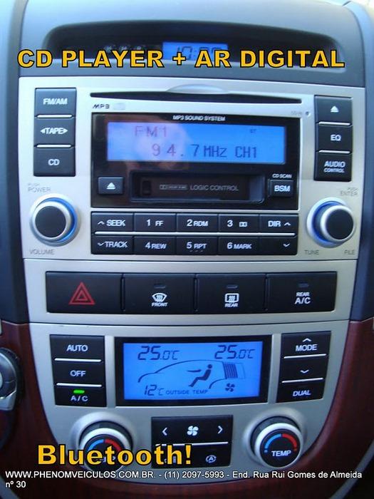 Hyundai Santa Fé 2008 prata usada 7 lugares
