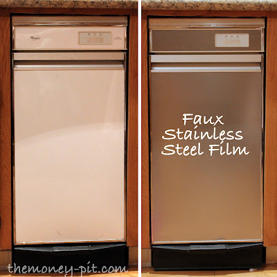 Turning White Appliances into Stainless Steel for $25! - The Kim Six