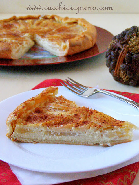 torta de ricota e pera