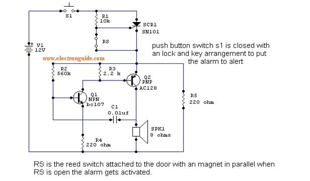intruder alarm circuit diagram the circuit rh easycircuit012 blogspot com
