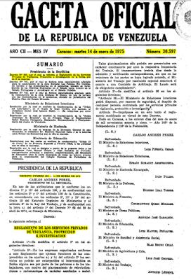 Decreto 699 de Relaciones Interiores