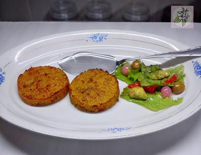 Hamburguesas Veganas de Quinoa y Berenjena.