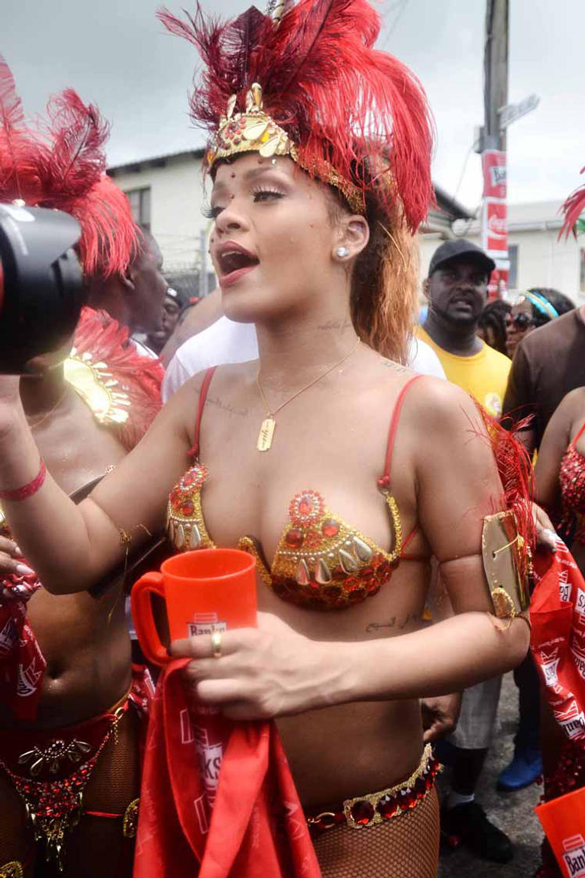 Rihanna Bares It All in Barbados. She is the queen with the sexy outfits and striking appearance.