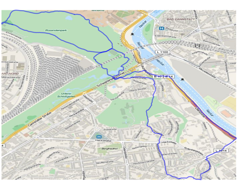 the track with a bing map of stuttgart in the background click to enlarge