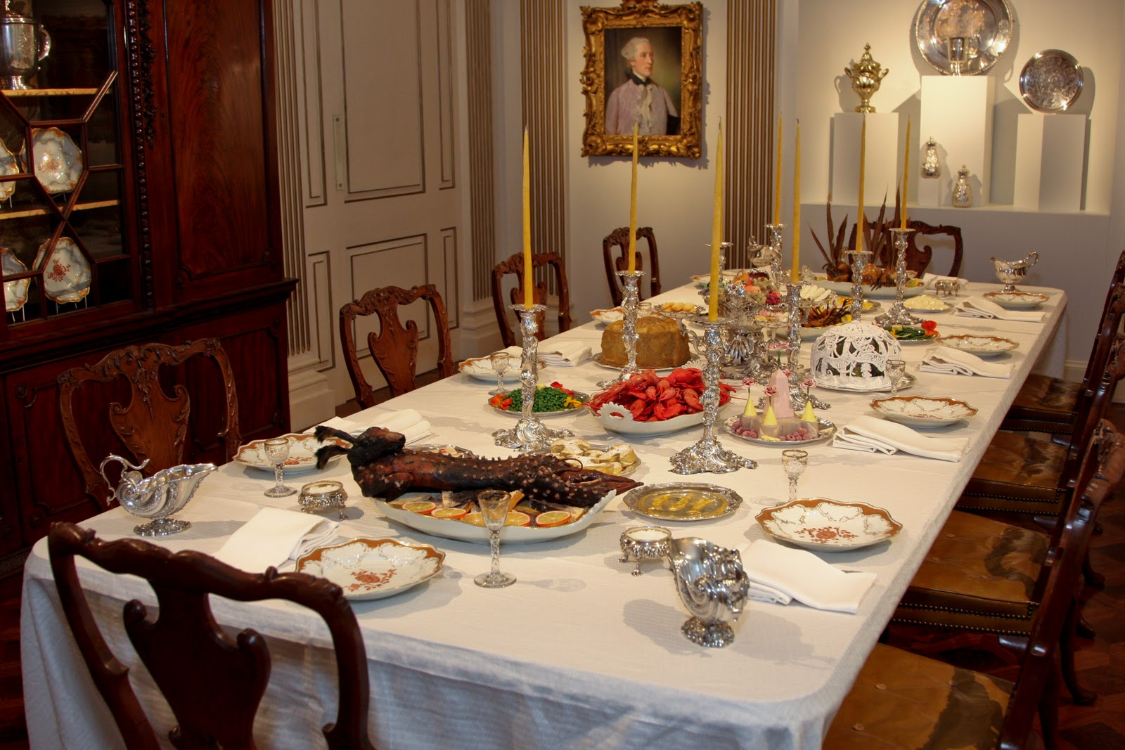 Eighteenth Century table setting at Rienzi MFAH Houston Texas & Food History Jottings: Mrs Raffald puts on her cowboy boots and goes ...