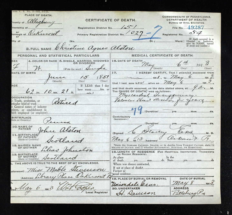 Pennsylvania Pa Death Certificates Order Records Inducedfo