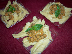 Garganelli con pesto di mandorle