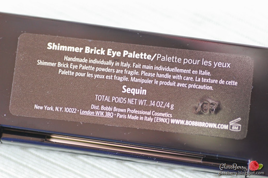bobbi brown shimmer brick eyes palette sequin gold pink taupe brown gray בובי בראון פלטה צלליות לעיניים  גלוסברי בלוג איפור וטיפוח