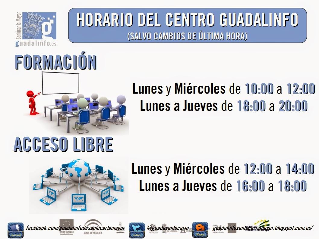 Horario Centro Guadalinfo