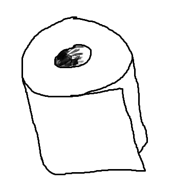 Toilet Paper Roll Drawing