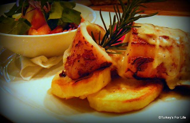 Stuffed Calamari, Shaka Restaurant, Fethiye, Turkey