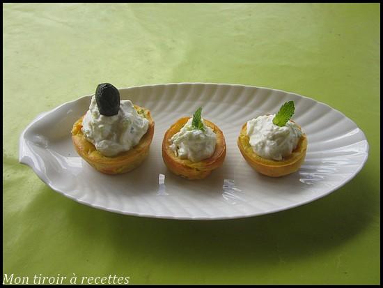 cupcakes courgettes et chèvre