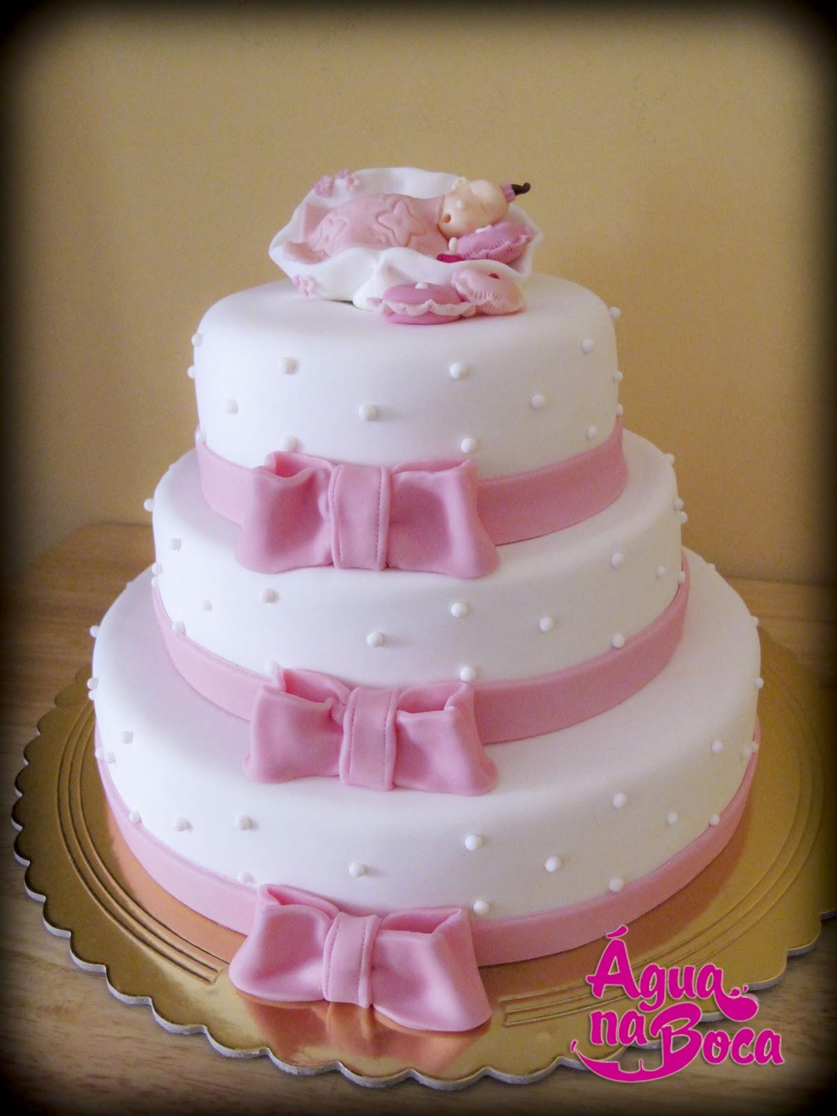 Cake Design Lisboa Encomendas : BOLO DE BAPTISMO - 3 PISOS 3 SABORES = aGUA NA BOCA ...