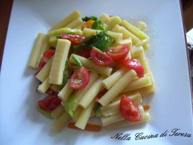 nella cucina di teresa: pasta fredda con verdure - Pasta Veloce Da Cucinare