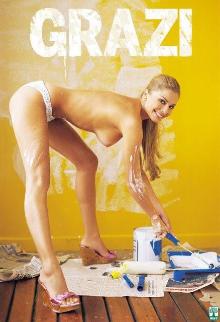 Grazi Massafera nua, pelada na Revista Playboy