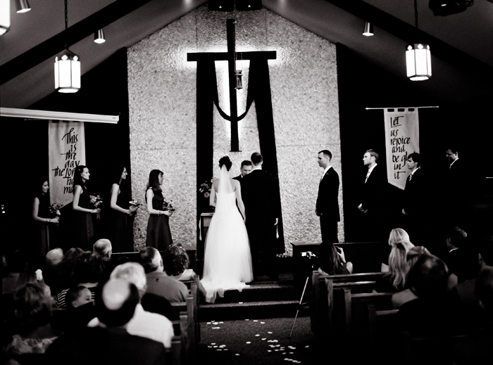 Black & White film wedding photography, wedding ceremony, church ceremony photo