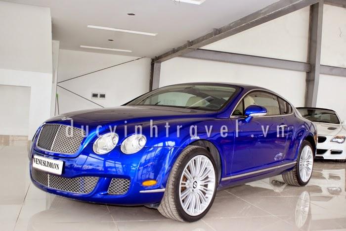 Cho thuê xe cưới Bentley Continental GT Speed Xanh