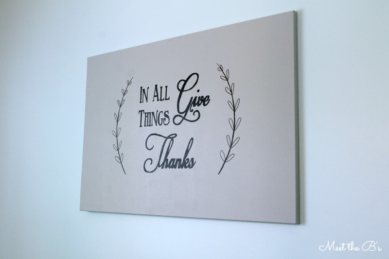 In All Things Give Thanks- Dining Room Wall Art