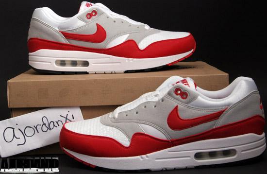 nike air max 1 qs 2009 retro white sport red