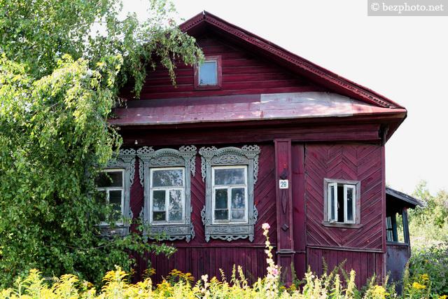 фото наличников в деревянном доме