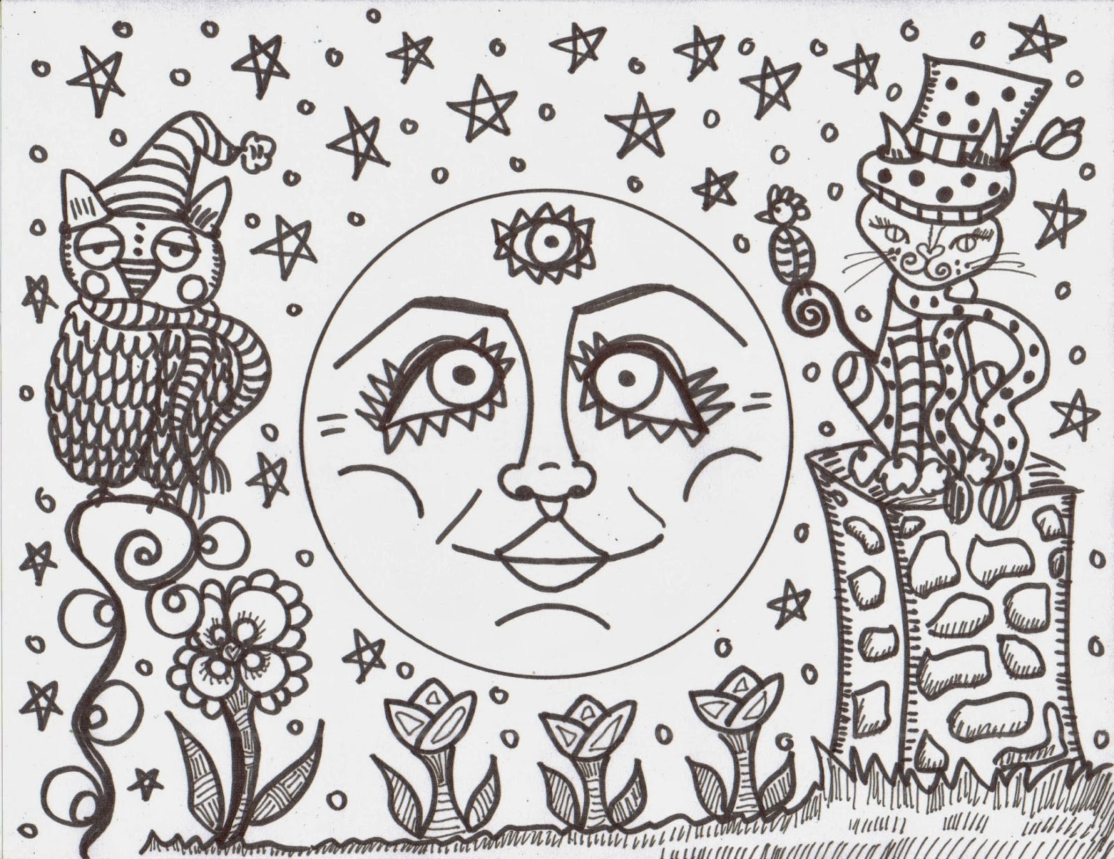 Making hippie art coloring books dawn collins art for Hippie coloring book pages