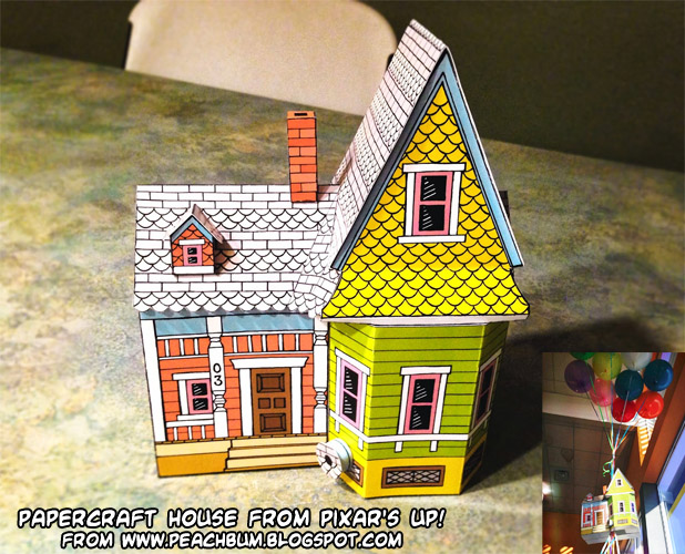 ninjatoes u0026 39  papercraft weblog  papercraft disney  pixar up