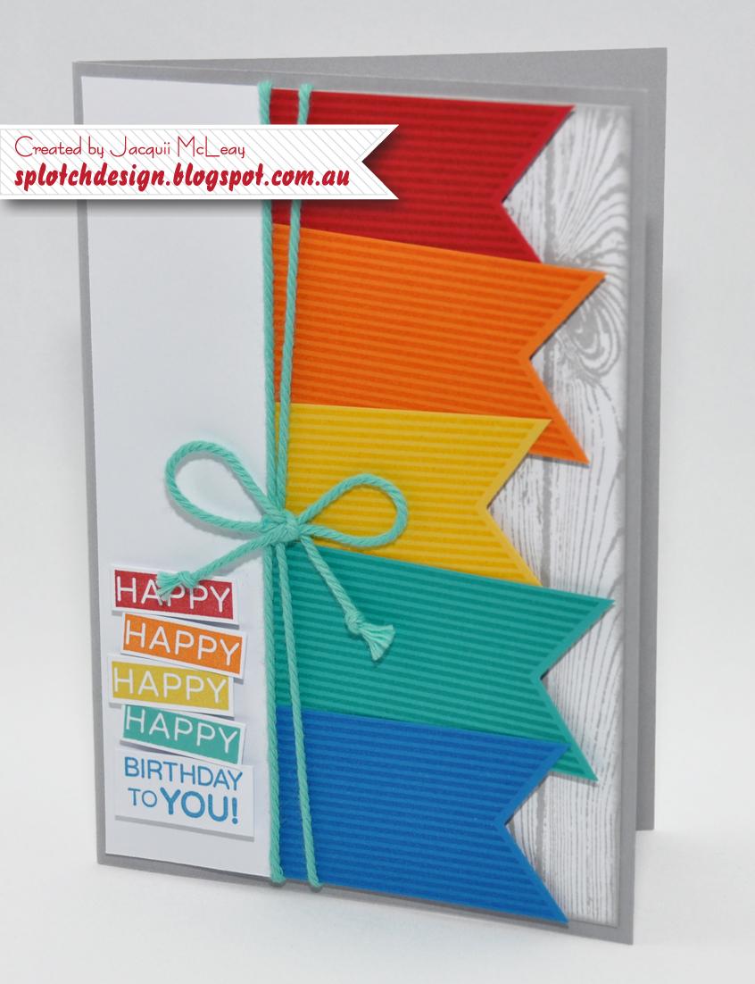 splotch design  independent stampin' up demonstrator banner, Birthday card
