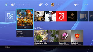 PS4 página inicio