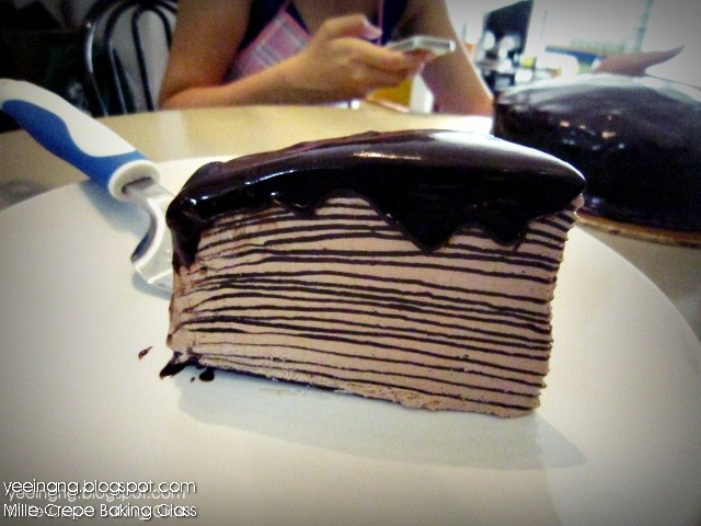 Dark Chocolate Mille Crepe Cake. I'm a big fan of Mille Crepe !