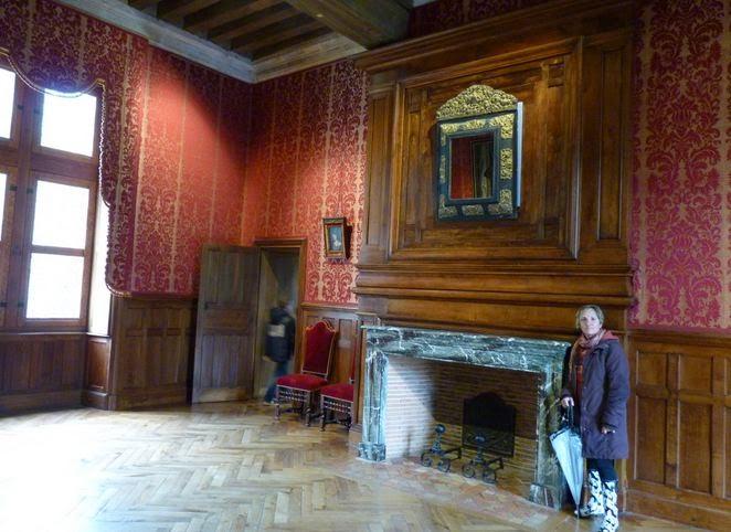 La Habitación Roja del Castillo de Azay-le-Rideau.