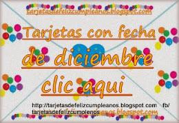 Diciembre : tarjetas de cumpleaños con fechas