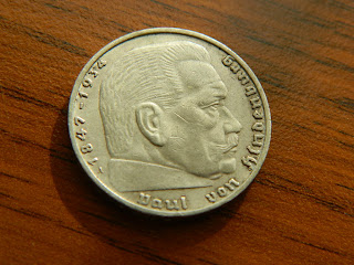 Nazi German 2 Mark 1939 A Silver coin with Swastika 413