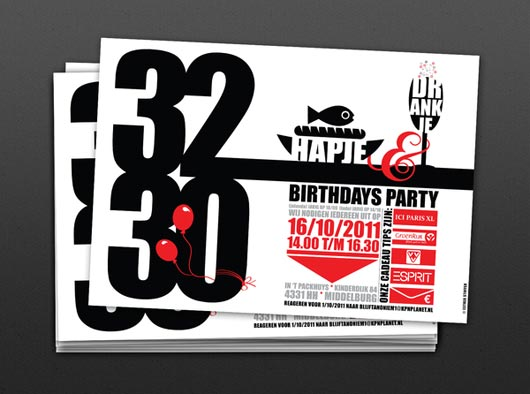 30 more modern birthday invitation card designs jayce o yesta birthday invitation cards stopboris Gallery