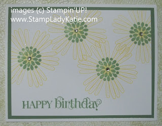 card made with Stampin'UP!'s Mixed Bunch Stamp Set. by Stamp Lady Katie