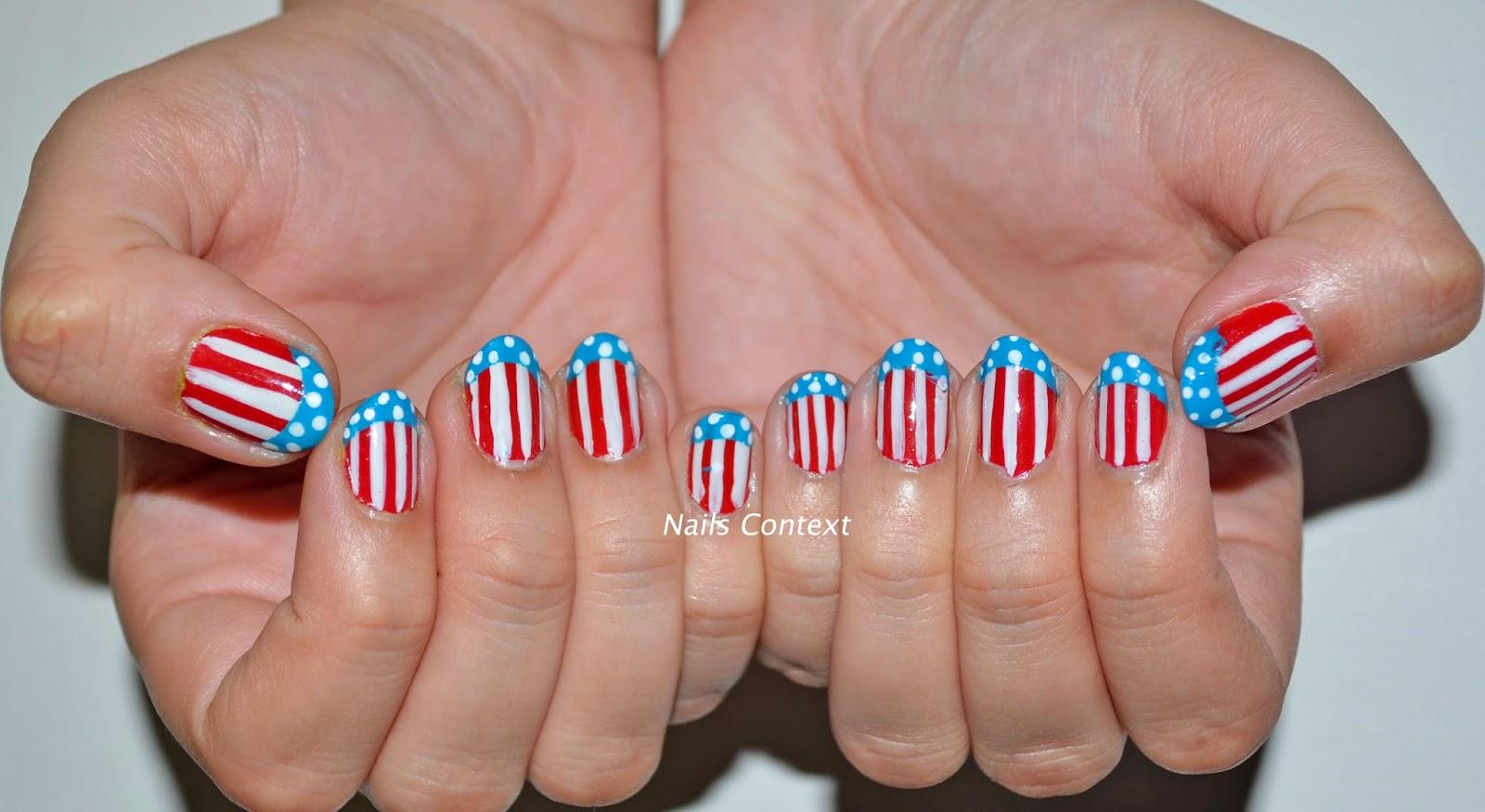 Nails Context 4th Of July Nail Art