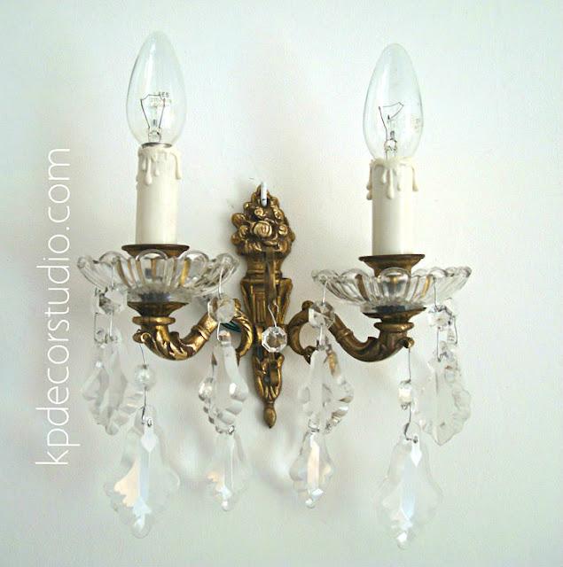 comprar lampara lagrimas online vintage Valencia. apliques vintage de pared