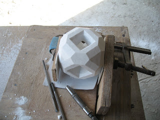 Creative process.Abstract Marble Sculpture
